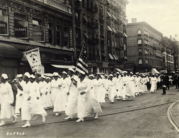 Black Cross Nurses, in the 1922 UNIA <b>Parade</b> (Corbis)