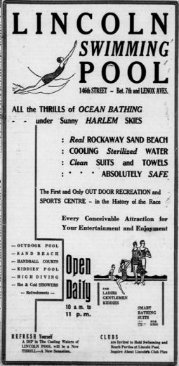 Lincoln Pool Ad